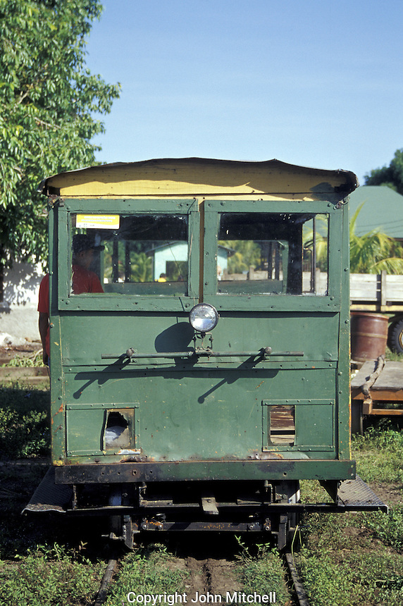 The banana train operated by Feroocarril Nacional that takes tourists from La Union to the Cuero y Salado Wildlife Refuge near la Ceiba, Honduras. This railway dates back to the early 1900's and was used to transport plantation workers.