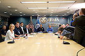 Washington, DC, August 31, 2008 --  President George W. Bush joins FEMA Administrator David Paulison and Federal Emergency Management Agency (FEMA) Deputy Administrator Harvey Johnson and other FEMA staff for a Video Teleconference with Federal Partners, FEMA regions and the states which will possibly be affected by Hurricane Gustav at FEMA headquarters. .Credit: Bill Koplitz - FEMA via CNP