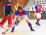 Almere - Zaalhockey  Laren-SCHC (heren)   .  Thomas Vis (SCHC) .TopsportCentrum Almere.    COPYRIGHT KOEN SUYK