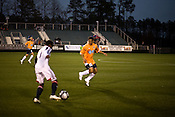 "March 14, 2009. Cary, NC.. The Carolina Railhawks went home in foul weather with a  1-0 victory over the New England Revolution of the MLS, in the inaugural ""Community Shield"" match and their first professional outing under new coach, Martin Rennie."