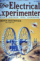 Utopia:  War in the Future--Trench destroyer 1917.  Mobile dreadnought perhaps suggested by tractor wheels and/or a ferris wheel.  Combines maximum offensive power and total security.  YESTERDAY'S TOMORROWS.
