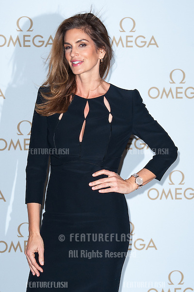 Cindy Crawford arriving for the Omega Oxford Street Store Opening Party, The Shard, London. 10/12/2014 Picture by: Dave Norton / Featureflash