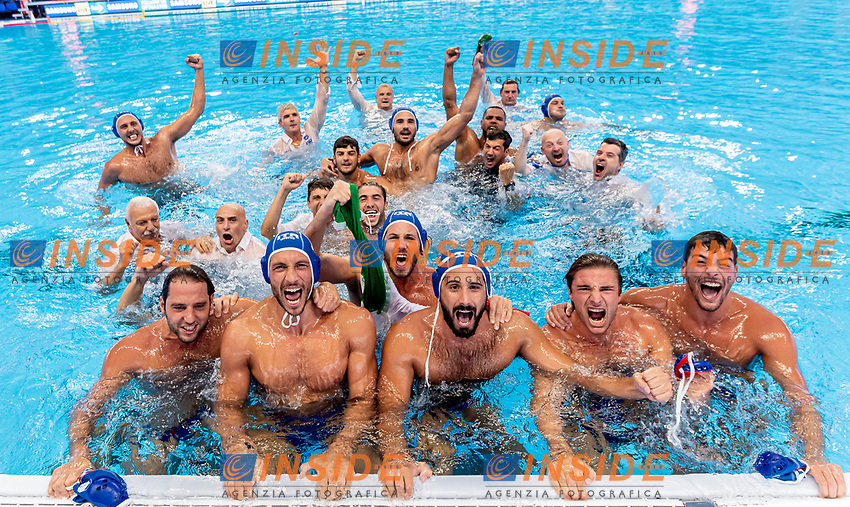 Team Italy ITA Gold medal World Champion 2019<br /> Gwangju South Korea 27/07/2019<br /> Waterpolo Spain v. Italy ESP - ITA Gold Final<br /> 18th FINA World Aquatics Championships<br /> Nambu University Grounds <br /> Photo © Giorgio Scala/ Deepbluemedia / Insidefoto