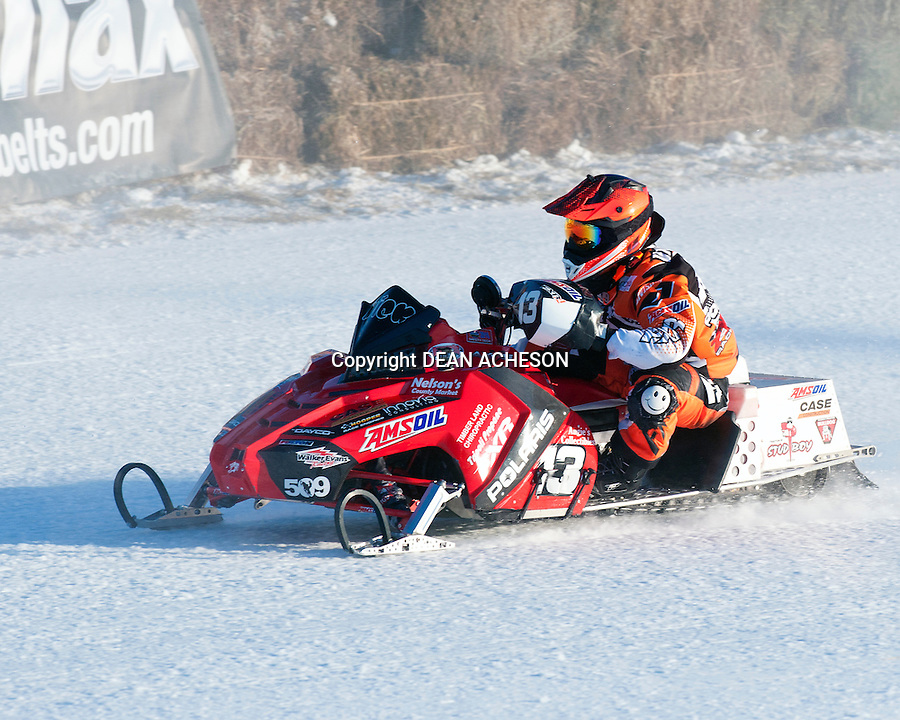 Nick Van Strydonk of Tomahawk, WI competes in the 2016 AMSOIL World Championship Derby in Eagle River, WI, on Jan. 17, 2016.