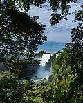 The powerful San Martin Waterfall at Iguazu Falls National Park in Argentina.  A UNESCO World Heritage Site.