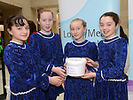 Ciara Brodigan, Niamh McCullough, Aoife Finglas and Katie Smyth from the McCarthy school of irish dance who performed a dance display in aid of Down Syndrome Ireland Louth Meath branch at the Laurence Town Centre. Photo:Colin Bell/pressphotos.ie
