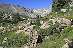 Hiking trail leading to Isabelle Lake, in the Indian Peaks. <br />