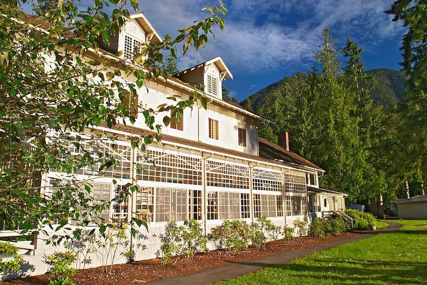 Lake Crescent Lodge, Olympic National Park, Olympic Peninsula, Clallam County, Washington, USA