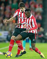 Athletic de Bilbao's Mikel San Jose (l) and Inaki Williams during La Liga match. October 28,2017. (ALTERPHOTOS/Acero) /NortePhoto.com