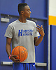 Hofstra University incoming freshman Desure Buie walks onto the court during an informal men's basketball team workout at the team's practice facility on Wednesday, July 22, 2015.<br /> <br /> James Escher