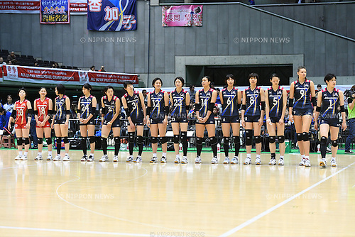 Hisamitsu Springs team group, <br /> DECEMBER 18, 2016 - Volleyball : <br /> All Japan Women's Volleyball Championships <br /> Quarter-final match <br /> between Hisamitsu Springs 3-0 PFU Blue Cats <br /> at Tokyo Metropolitan Gymnasium, Tokyo, Japan. <br /> (Photo by AFLO SPORT)