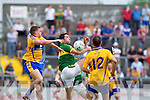 Bryan Sheehan, Kerry in action against Shane McGrath, Clare in the Munster Senior Championship Semi Final in Cusack Park, Ennis on Sunday.