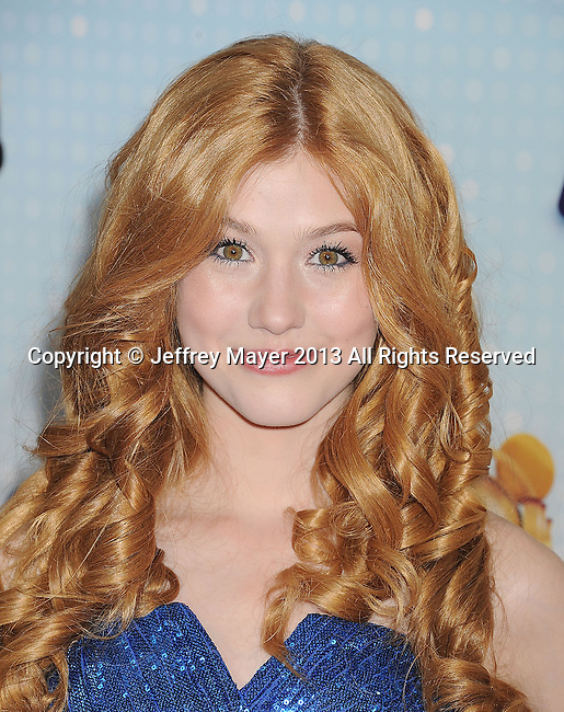 LOS ANGELES, CA- APRIL 27: Actress Katherine McNamara arrives at the 2013 Radio Disney Music Awards at Nokia Theatre L.A. Live on April 27, 2013 in Los Angeles, California.