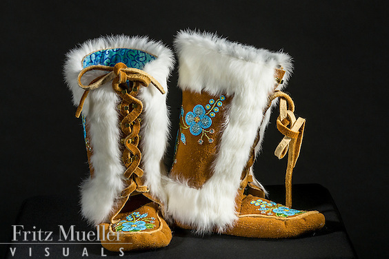 Adaka Cultural Festival 2016, Whitehorse, Yukon, Canada, Yukon First Nation Culture and Tourism Association, Kwanlin Dun Cultural Centre, Florence Moses, beadwork, moccasins