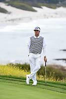 Bubba Watson (USA) waits to putt on 8 during round 1 of the 2019 US Open, Pebble Beach Golf Links, Monterrey, California, USA. 6/13/2019.<br /> Picture: Golffile | Ken Murray<br /> <br /> All photo usage must carry mandatory copyright credit (© Golffile | Ken Murray)