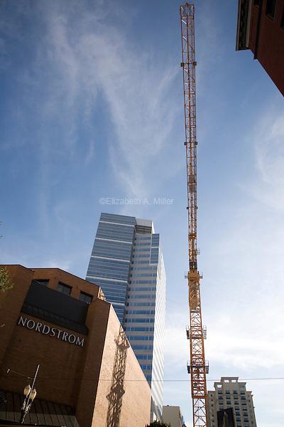07 October 2009 - Portland, Oregon - Construction in downtown Portland.  Photo Credit: Elizabeth A. Miller/Sipa Press