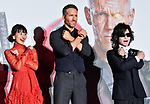 """Ryan Reynolds, May 29, 2018, Tokyo, Japan : (L-R) Actress Shioli Kutsuna, actor Ryan Reynolds and singer Toshi of X Japan attend the Japan premiere for """"Deadpool 2"""" at the Roppongi Hills in Tokyo, Japan on May 29, 2018."""