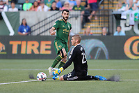 Portland, Oregon - Wednesday July 5, 2017: Portland Timbers vs Chicago Fire in a match at Providence Park.
