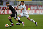 GER - Sandhausen, Germany, March 19: During the 2. Bundesliga soccer match between SV Sandhausen (white) and FC ST. Pauli (grey) on March 19, 2016 at Hardtwaldstadion in Sandhausen, Germany. (Photo by Dirk Markgraf / www.265-images.com) *** Local caption *** Daniel Buballa #15 of FC St. Pauli, Andrew Wooten #8 of SV Sandhausen
