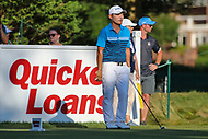 Bethesda, MD - July 1, 2017: Sung Kang prepares for his tee shot during Round 3 of professional play at the Quicken Loans National Tournament at TPC Potomac in Bethesda, MD, July 1, 2017.  (Photo by Elliott Brown/Media Images International)