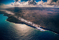 Aerial view of Pu'u 'O'o Crater, Kilauea Volcano, Hawai'i Island.