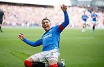 28.09.2018 Rangers v Aberdeen: James Tavernier celebrates as he scores from the spot