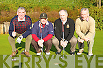Tim Brosnan, Tadgh O'Connor, Harry Bartlett and Tom Lyne playing around at the Dr Crokes golf classic in Dooks on Saturday   Copyright Kerry's Eye 2008