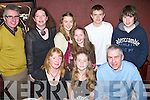 CONFIRMATION: Ella Noonan, Annagh, (seated centre) enjoying her confirmation dinner with her family in the Station House, Blennerville, on Saturday. Seated l-r: Sarah, Ella and Peter Noonan. Standing l-r: Albert, Mairead, Amy, Emily, Paul and James Noonan.   Copyright Kerry's Eye 2008