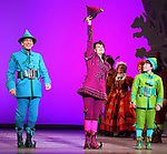 Mark Jacoby, Beth Leavel & Jason Eric Testa during the First Performance Curtain Call of the Broadway Holiday Hit Musical 'Elf'  at the Al Hirschfeld  Theatre in New York City on 11/09/2012