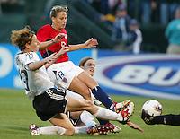 Kristine Lilly, center, Sandra Minnert, left, USA vs. Germany, 2003 WWC.