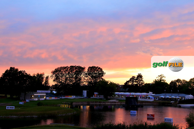 A general view of the 18th hole during the ProAm ahead of the Lyoness Open powered by Organic+ played at Diamond Country Club, Atzenbrugg, Austria. 8-11 June 2017 April.<br /> 07/06/2017.<br /> Picture: Golffile | Phil Inglis<br /> <br /> <br /> All photo usage must carry mandatory copyright credit (&copy; Golffile | Phil Inglis)