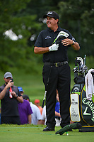 Phil Mickelson (USA) looks over his tee shot on 12 during Rd4 of the 2019 BMW Championship, Medinah Golf Club, Chicago, Illinois, USA. 8/18/2019.<br /> Picture Ken Murray / Golffile.ie<br /> <br /> All photo usage must carry mandatory copyright credit (© Golffile | Ken Murray)