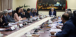 Palestinian Prime Minister Rami Hamdallah chairs a meeting of council of Ministers in the West Bank city of Ramallah, on June 06, 2017. Photo by Prime Minister Office
