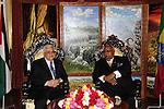Palestinian President Mahmoud Abbas (Abu Mazen) during a meeting with the Ethiopian President in the Ethiopian capital Addis Ababa on July 6,2010. Photo by Omar Rashidi