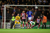 Everton's Alex Iwobi scores his side's third goal<br /> <br /> Photographer Chris Vaughan/CameraSport<br /> <br /> The Carabao Cup Second Round - Lincoln City v Everton - Wednesday 28th August 2019 - Sincil Bank - Lincoln<br />  <br /> World Copyright © 2019 CameraSport. All rights reserved. 43 Linden Ave. Countesthorpe. Leicester. England. LE8 5PG - Tel: +44 (0) 116 277 4147 - admin@camerasport.com - www.camerasport.com