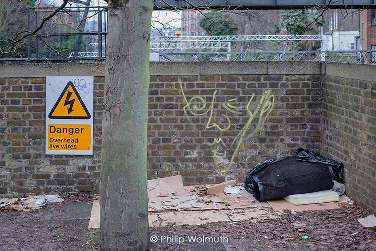 Rough sleeping place, Camden Town.