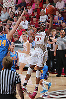 STANFORD, CA - February 12, 2011: Stanford Cardinal's Nnemkadi Ogwumike during Stanford's 82-59 victory over UCLA at Maples Pavilion.