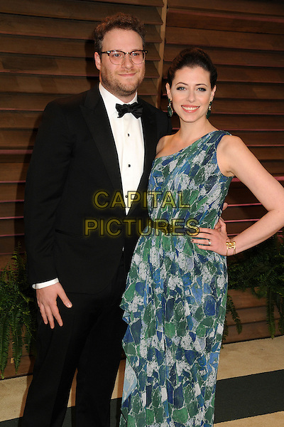 02 March 2014 - West Hollywood, California - Seth Rogen, Lauren Miller. 2014 Vanity Fair Oscar Party following the 86th Academy Awards held at Sunset Plaza.  <br /> CAP/ADM/BP<br /> &copy;Byron Purvis/AdMedia/Capital Pictures