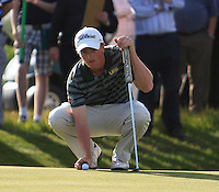 Paul Dunne (Greystones) during the 3rd round of the East of Ireland Amateur Open Championship 2013 Co Louth Golf club 3/6/13<br /> Picture:  Thos Caffrey / www.golffile.ie
