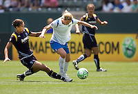 Boston Breakers Kristine Lilly attempts to move past  LA Sol's Shannon Boxx.  The Boston Breakers and LA Sol played to a 0-0 draw at Home Depot Center stadium in Carson, California on Sunday May 10, 2009.   .
