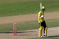 Sam Northeast of Hampshire celebrates scoring fifty runs during Hampshire vs Essex Eagles, Vitality Blast T20 Cricket at the Ageas Bowl on 25th August 2019