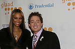 Tyra Banks (Top Model) was presented the Excellence n Media Award by Clay Aiken (Days Of Our Lives) at the 20th Annual GLAAD Media Awards on March 28, 2009 at the New York Marriott, New York City, NY. (Photo by Sue Coflin/Max Photos)