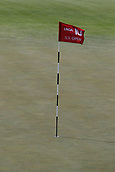 June 14th 2017, Erin, Wisconsin, USA; The traditional red flags for the pins are used during the 117th US Open - Practice Round at Erin Hills in Erin, Wisconsin