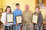 Civic Reception : A civic reception to honour three boxers, members of the Cashen Vale Amateur Boxing Club,  who have won national awrdas was held in Aras an Phiarsaigh, Listowel on Monday last, organised by the Listowel Electorial Area. Cllr. Tim Buckley, Cahairman of the Listowel electorial area presented scrolls to Niamh Ball, Nationa Girl 4 winner, Brian Wall, National Junior Cadet, and Naomi O'Brien, National Girl 3 Junior Cadet.