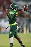 Tampa, FL - September 4th, 2016: South Florida Bulls quarterback Quinton Flowers (9) in action during game against Towson at Raymond James Stadium in Tampa, FL. (Photo by Phil Peters/Media Images International)