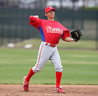March 25, 2010:  Shortstop Troy Hanzawa of the Philadelphia Phillies organization during a Spring Training game at the Carpenter Complex in Clearwater, FL.  Photo By Mike Janes/Four Seam Images