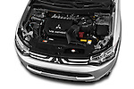 Car stock 2014 Mitsubishi Outlander Instyle 5 Door SUV engine high angle detail view