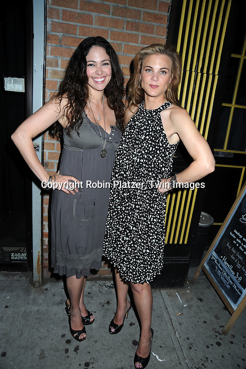 """Jessica Leccia and Gina Tognoni attending the viewing party for TLC's Series """"Seeing Vs Believing"""" which is hosted by Ricky Paull Goldin of All My Children and Jeff Gurtman on May 2, 2010 at Stanton Public in New York City."""