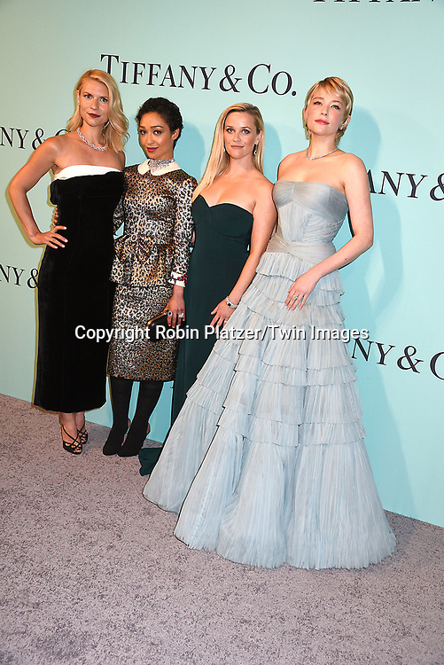 Claire Danes, Ruth Negga, Reese Witherspoon &amp; Haley Bennett attend the Tiffany &amp; Co 2017 Blue Book Collection on April 21, 2017 at St Ann's Warehouse in Brooklyn, New York, USA.<br /> <br /> photo by Robin Platzer/Twin Images<br />  <br /> phone number 212-935-0770