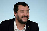 Rom, 20 Ottobre 2018<br /> Matteo Salvini.<br /> Palazzo Chigi<br /> Conferenza stampa al termine del Consiglio dei ministri sul Def
